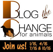 Click on the badge to visit Blog the Change for animals