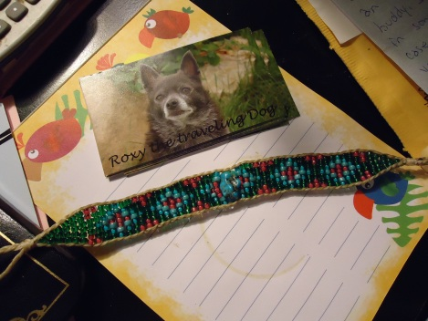 roxy and torrey bracelet on pad