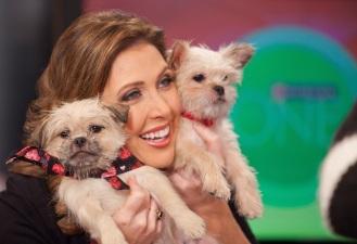 Alicia Smith and doggies, photo courtesy of Michigan Humane