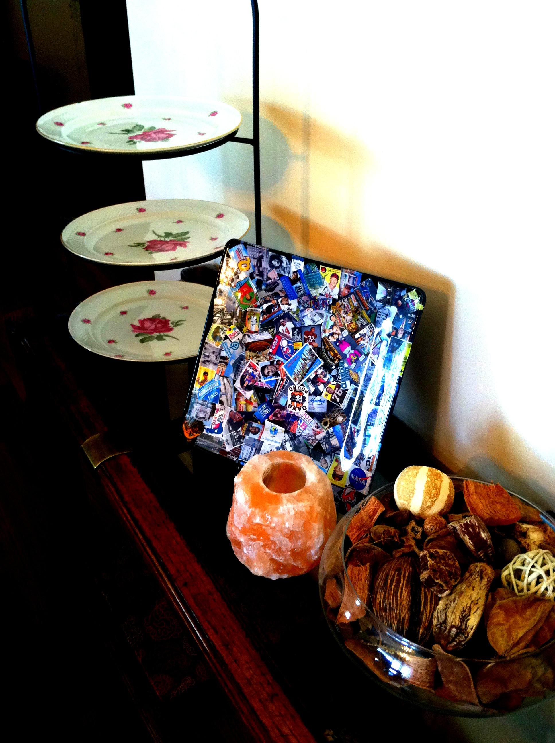 browns plate displayed
