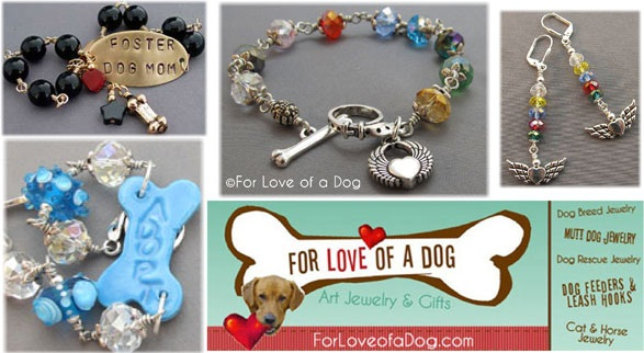 for love of a dog logo with jewelry sues