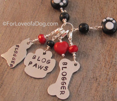 for love of a dog MY official blogging necklace