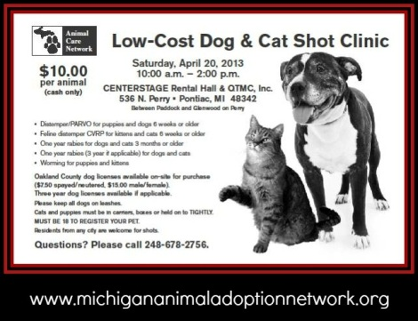 michigan animal adoption network blog