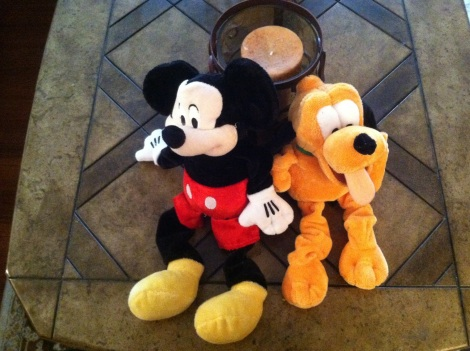 Disney toys on table