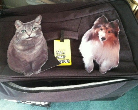 flatpets on luggage