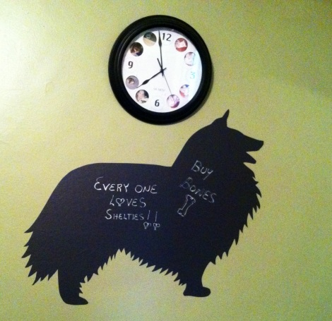dog board under clock 2